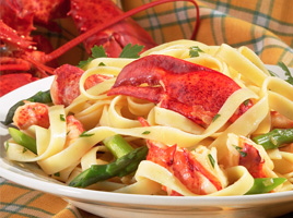 Lobster Linguine with Basil and Garlic